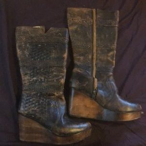 Bed Stu wedge boots